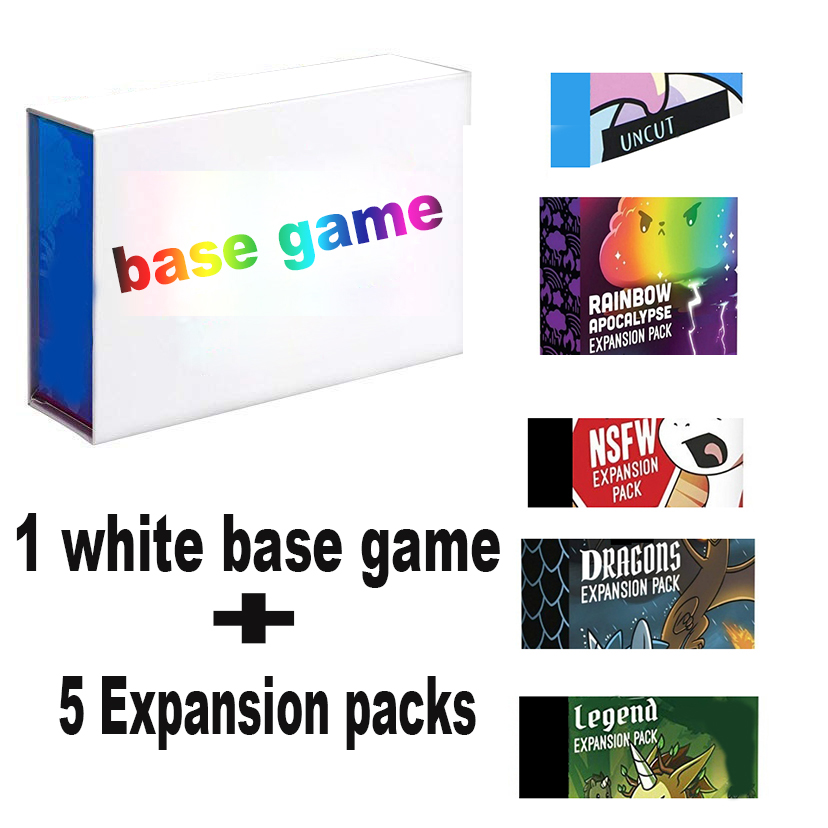 Unstable Board Game Dragons Expansion Pack NSFW Basic Version Unicornsi Rainbows Card Game Legend UNCUTs Adult Party