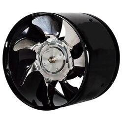 6 Cal szybki wentylator wyciągowy kanał w linii ekstraktor kuchenny metalowy wentylator toaletowy wentylator przemysłowy 220V