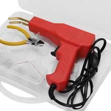 Soldador de plástico de 110-220V para herramientas de garaje, grapadora caliente, máquina de reparación de parachoques de coche, grapadora de pistola de soldar