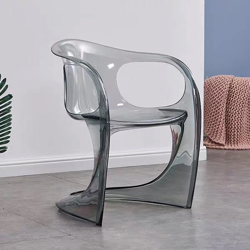 Nordic Dining Chair Creative Acrylic Plastic Dining Chair Ghost Chair Crystal Stool Diningroom Furniture Transparent ArmChair