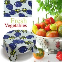Eco-Friendly Reusable Food Wraps Sustainable Plastic Free Food Storage Organic Beeswax Wrap Cling Wrap Replacement For Fruits diy eco set no beeswax 100% plant based reusable wax food wrap vegan free soy bean wax lip eco friendly vegan food wraps