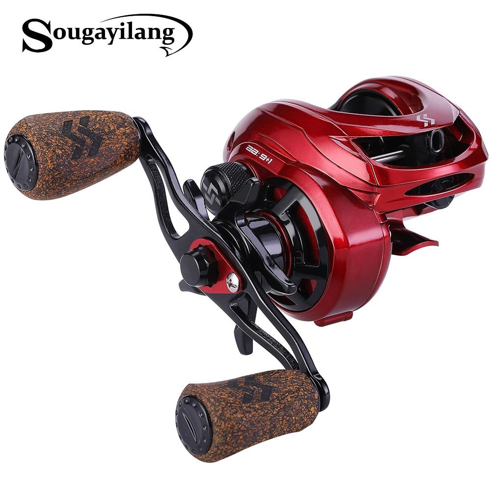2019 Sougayilang 9+1BB  Fishing Reel Strong Drag Power 8kg  Fishing Reel Casting Reel Carp Fishing Wheels Fishing Tracking