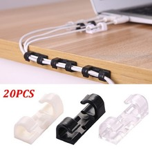20pcs Wiring Accessories Cable Clips Buckle Management Organizer Securing Wire Storage Clips Housing Data Line Fastener Holder