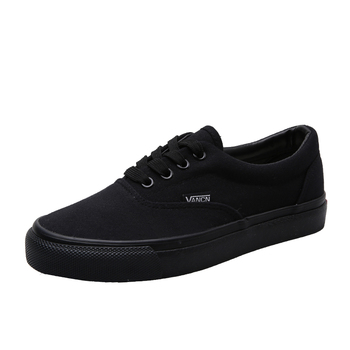 Women Sneakers authentic all black Canvas Shoes low top Flats Lace-up Shoe men Casual Loafers Espadrilles Skatebarding Shoes Αθλητικά Παπούτσια Παπούτσια MSOW