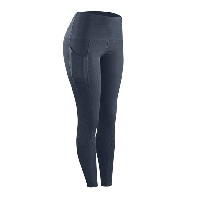 High waist sports legging with pocket for women fashion new female workout stretch Yoga pants plus size Elastic fitness leggings 5