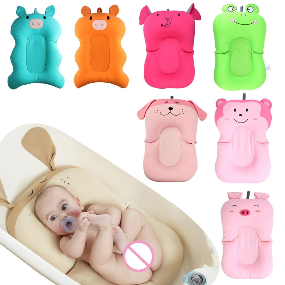 Support Dropshipping Baby Shower Portable Non-Slip Air Cushion Infant Baby Bath Pad Bathtub Mat Safety Bath Seat Support