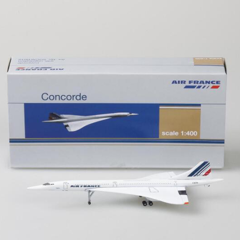 15CM 1:400 Scale Concorde Air France 1976-2003 Airline Model Alloy Collectible Display Toys Airplane Model Collection Kids Gift image