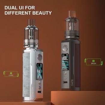 Voopoo – drag x plus cigarette électronique 100W, réservoir de 5.5mL, avec bobine TPP DM1 DM2, sans batterie 18650