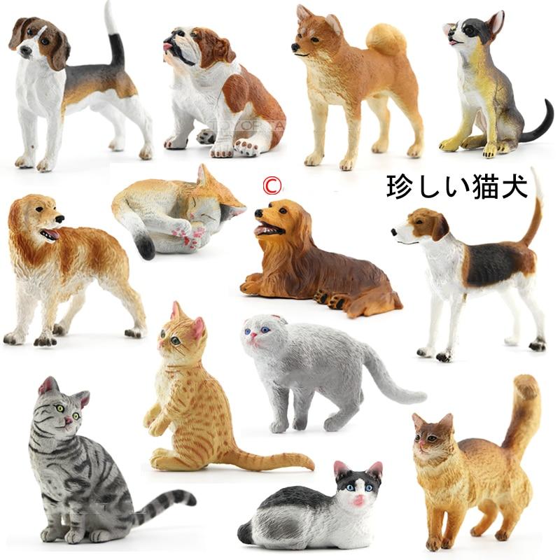 Japanese Genuine Bulks 28 Sets Cute Pet Puppies Ragdoll Bobtails Shorthair Ragdoll Cats Akita Bulldog Foxhound Desktop Figure