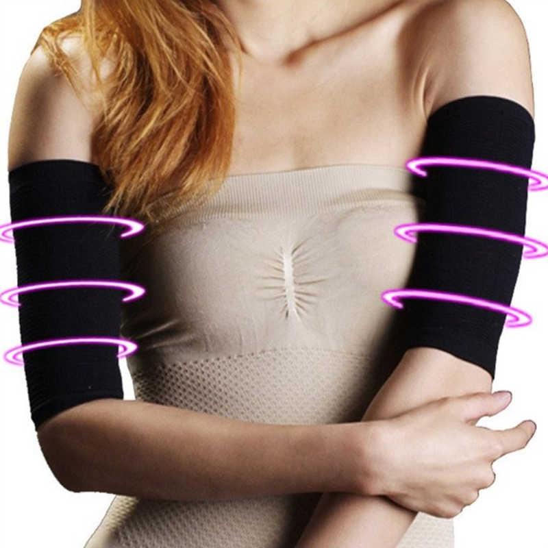 1 par de manguitos para perder peso, piernas delgadas para mujeres y hombres, faja adelgazante para el brazo, caloría para el brazo, calentadores para el brazo reductores de grasa