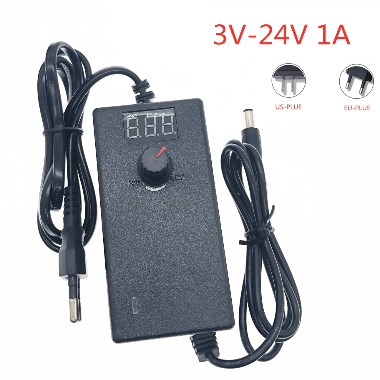 Adjustable <font><b>AC</b></font> to <font><b>DC</b></font> 3V 9V 12V 24V 36V 1A 2A Power Universal Adapter with Display Power <font><b>3</b></font> 9 12 24 36 <font><b>V</b></font> 1A 2A Power Dispenser image