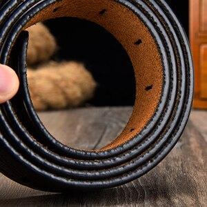Image 3 - [LFMB] חגורת זכר עור חגורת גברים רצועת זכר עור אמיתי יוקרה פין אבזם חגורות גברים חגורת אבנטים ceinture homme