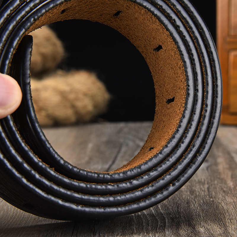 [Lfmb] Sabuk Pria Sabuk Kulit Pria Tali Pria Kulit Asli Mewah Pin Gesper Ikat Pinggang untuk Pria Sabuk Cummerbunds ceinture Homme