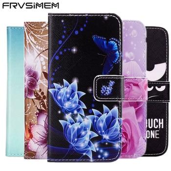 FRVSIMEM artystyczny obraz portfel z motywem sowy i kwiatów skórzane etui z klapką miękkie etui do Samsung Galaxy S3 S4 S5 Neo mini S6 S7 krawędzi S8 S9 Plus