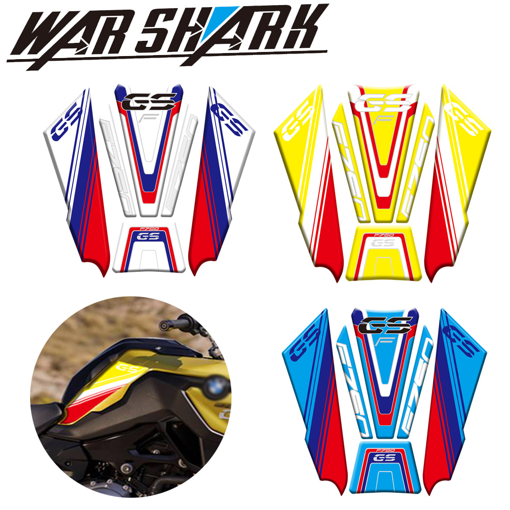 High Style Epoxy Resin Process Motorycle Tank Side Fuel Tank Protection Decals Sticker For BMW F750GS F750 GS F 750 GS