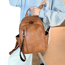 FUNMARDI Vintage Rivet Women Backpack Fashion Travel Small Backpack New 2019 PU Leather Schoolbag For Girls Backbag WLHB2064