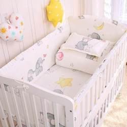 6/9pcs Elephant baby bedding set Cotton bedroom decor Baby Girl Boy Crib Bed Linens bed bumper 120*60/120*70cm