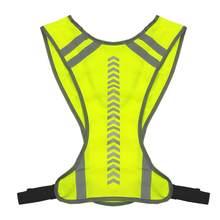 Colete de segurança reflexivo para passeios noturnos, colete esportivo de segurança para corrida, ciclismo, corrida, luz guia