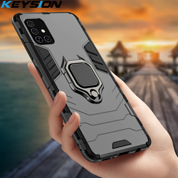 KEYSION Shockproof Case For Samsung A51 A71 5G A41 M40 M21 M31 A8 A9 2018 Phone Cover for Galaxy S20 Plus 20 Ultra M30S A21S A31
