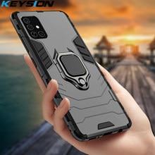 KEYSION Stoßfest Fall Für Samsung A51 A71 5G A41 M40 M21 M31 A8 A9 2018 Telefon Abdeckung für Galaxy s20 Plus 20 Ultra M30S A21S A31
