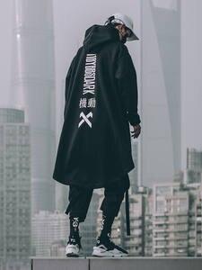 Michalkova Japanese Sweatshirt Outwear Cloak Streetwear-Coat Hoodies Long Oversize Hip-Hop