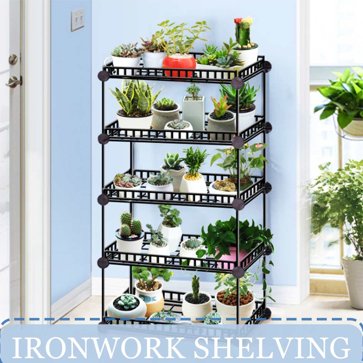 6/5/4/3 Tier Plant Shelves Flower Pot Holder Garden Rack Display Stand Succulent Plants Home Balcony Decoration