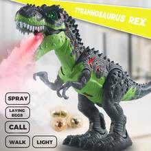 47cm große Spray Dinosaurier Tyrannosaurus Roboter Modell Cartoon Tier Elektrische Sounds Walking Dinosaurio Pädagogisches spielzeug Kinder Spielzeug(China)