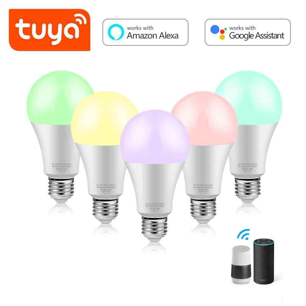 15W Lampu LED Alexa Kompatibel Google Home Tuya Smart WIFI Rumah Bulb Lampada Inteligente Smart Hidup Lampu Led