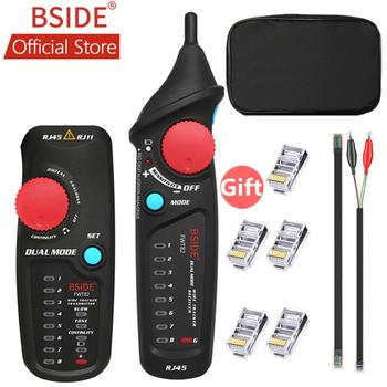 BSIDE FWT82 podwójny tryb sieciowy lokalizator przewodów drutowy Toner RJ45 RJ11 Ethernet LAN Tracer analizator detektor linii Finder tanie i dobre opinie Network Wire Tracker Tester Cable Tester 1000m Digital Mode Analogue Mode