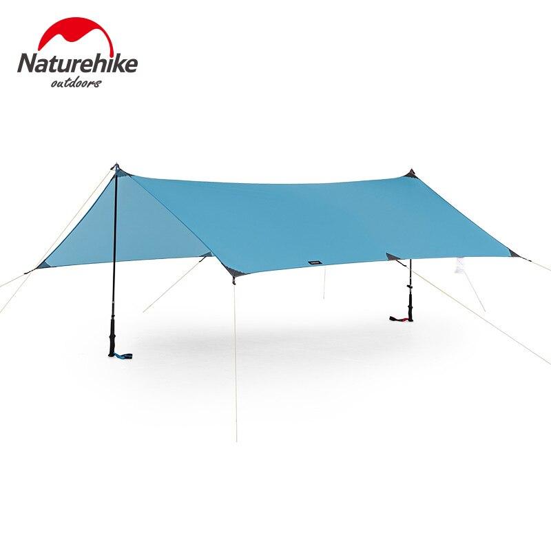 Naturehike сверхлегкий 15D нейлоновый брезент Кемпинг солнечные укрытия 240x290 см Навес Открытый Туризм Пляжный Тент Палатка