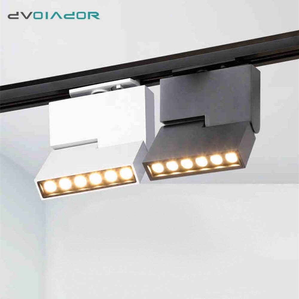 COB 12W Led Track Light Modern Ceiling Rail Track Lighting Spot Rail Spotlights CREE Track Lamp Lights For Home Shop Lightings