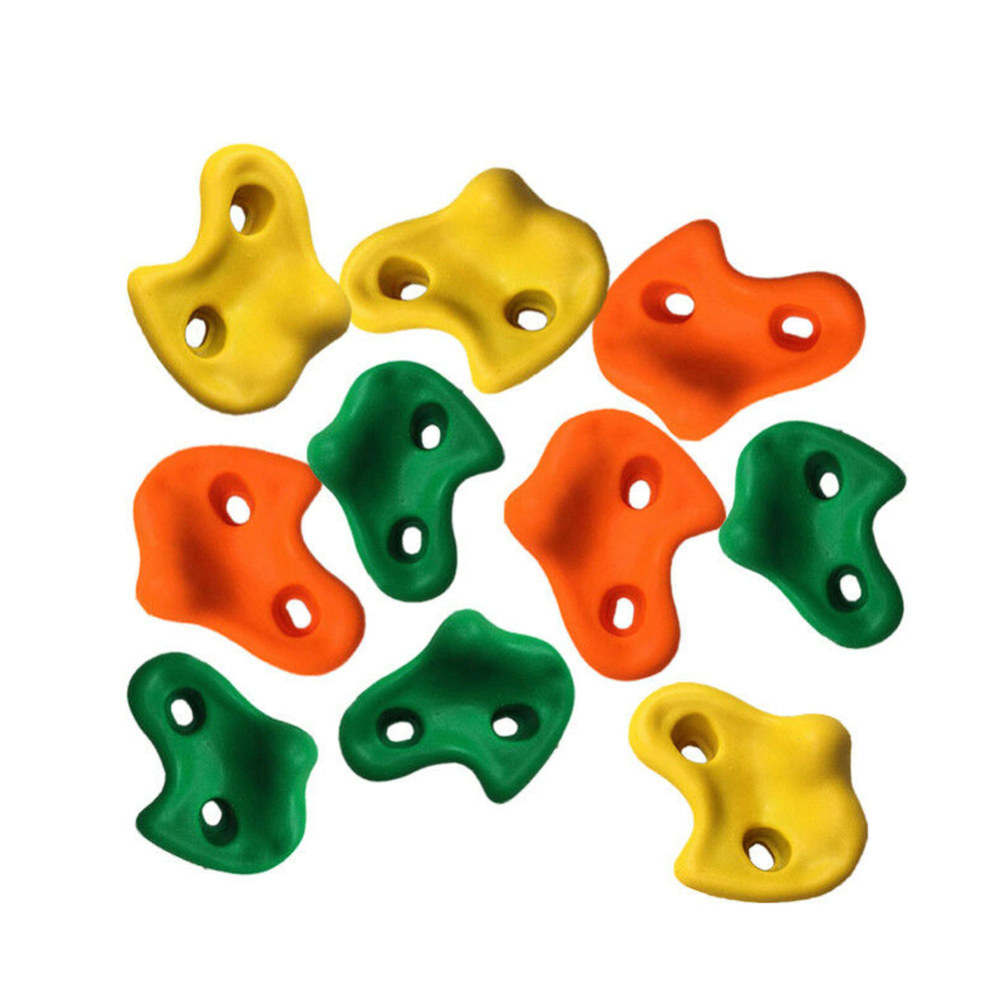 HotNew 10pcs Mixed Color Resin Climbing Rock Wall Stones Hand Feet Holds Grip Small Size Hardware Kits For Kids