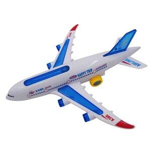 Image 3 - DIY הרכבה איירבוס מטוסי טייס אוטומטי פלאש קול מטוסים מוסיקה תאורה צעצועים חשמלי מטוס DIY צעצוע לילדים ילדים Gif