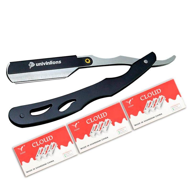 Univinlions Manual Shaver Professional Straight Edge Stainless Steel Sharp Barber Razor Folding Shaving Knife Shave Beard Cutter