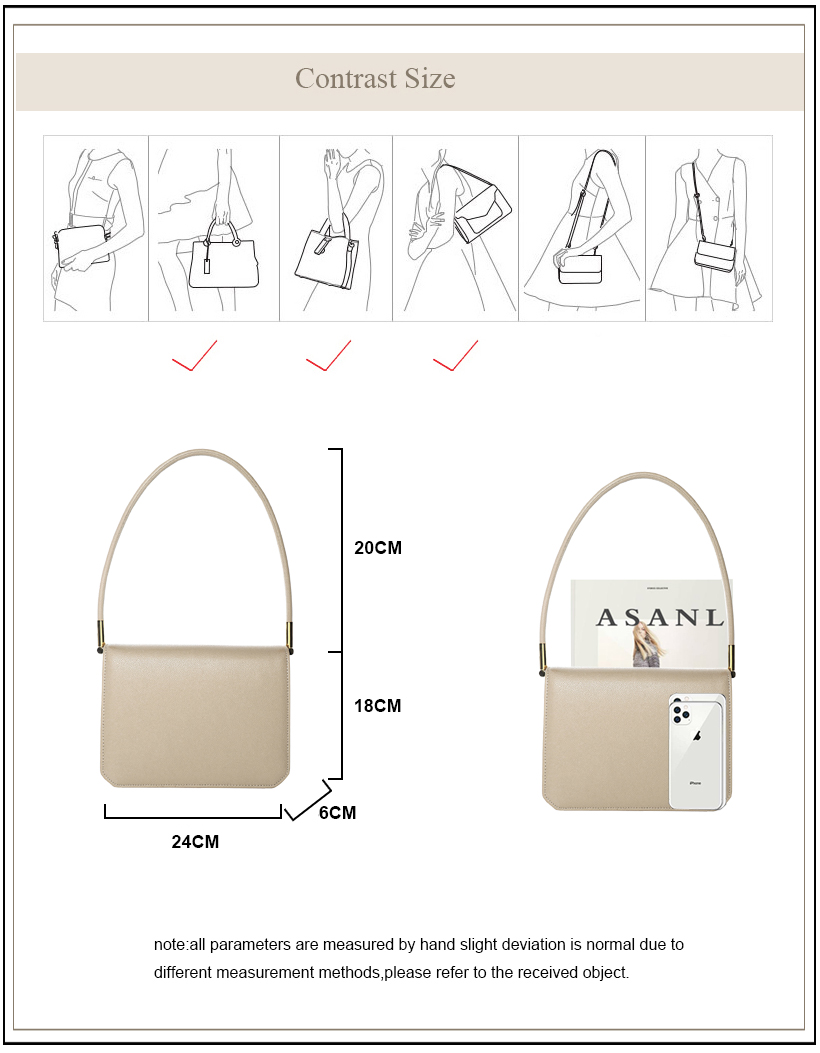 AVRO's MODA sacs à main de luxe femmes sacs sacs de créateurs pour les femmes 2019 dames de mode en cuir véritable épaule petit fourre-tout rabat sac - 4