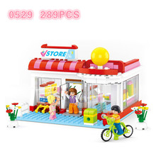 Legoingly Friends Pink Dream Series Sunshine Model Building Blocks Sets Bricks Educational Toys for Children lepin 02039 898pcs real city series red freight train set legoingly 3677 model building blocks bricks educational children gifts