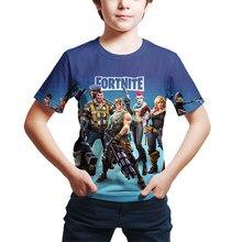 Fortnite crianças roupas topos camiseta jogos de manga curta 3d impresso t camisas engraçado da criança meninas meninos roupas streetwear 4t-14t
