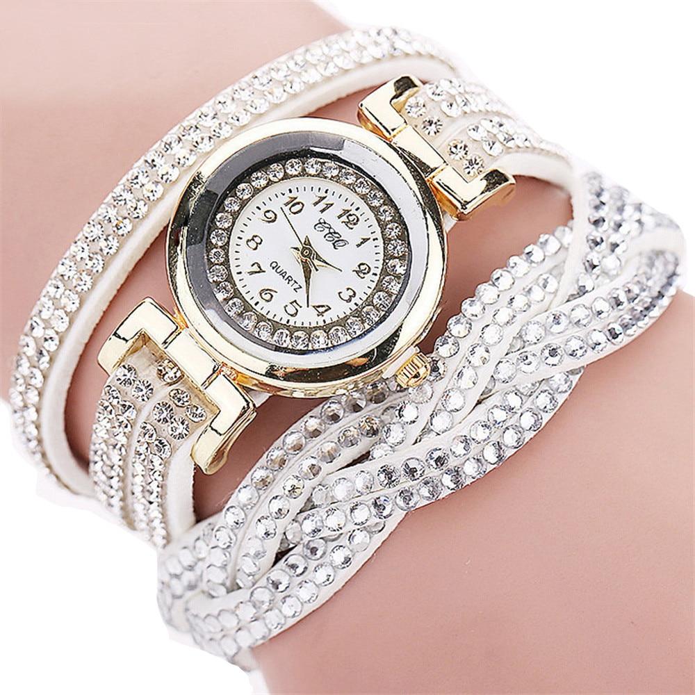 Relogio Feminino Saat Women's Watches Fashion Casual Analog Quartz Rhinestone Watch Bracelet Watches Ladies Clock reloj mujer