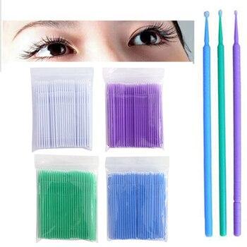 100 Pcs Micro Brush descartáveis Microbrush Aplicadores Extensões de Pestanas 1