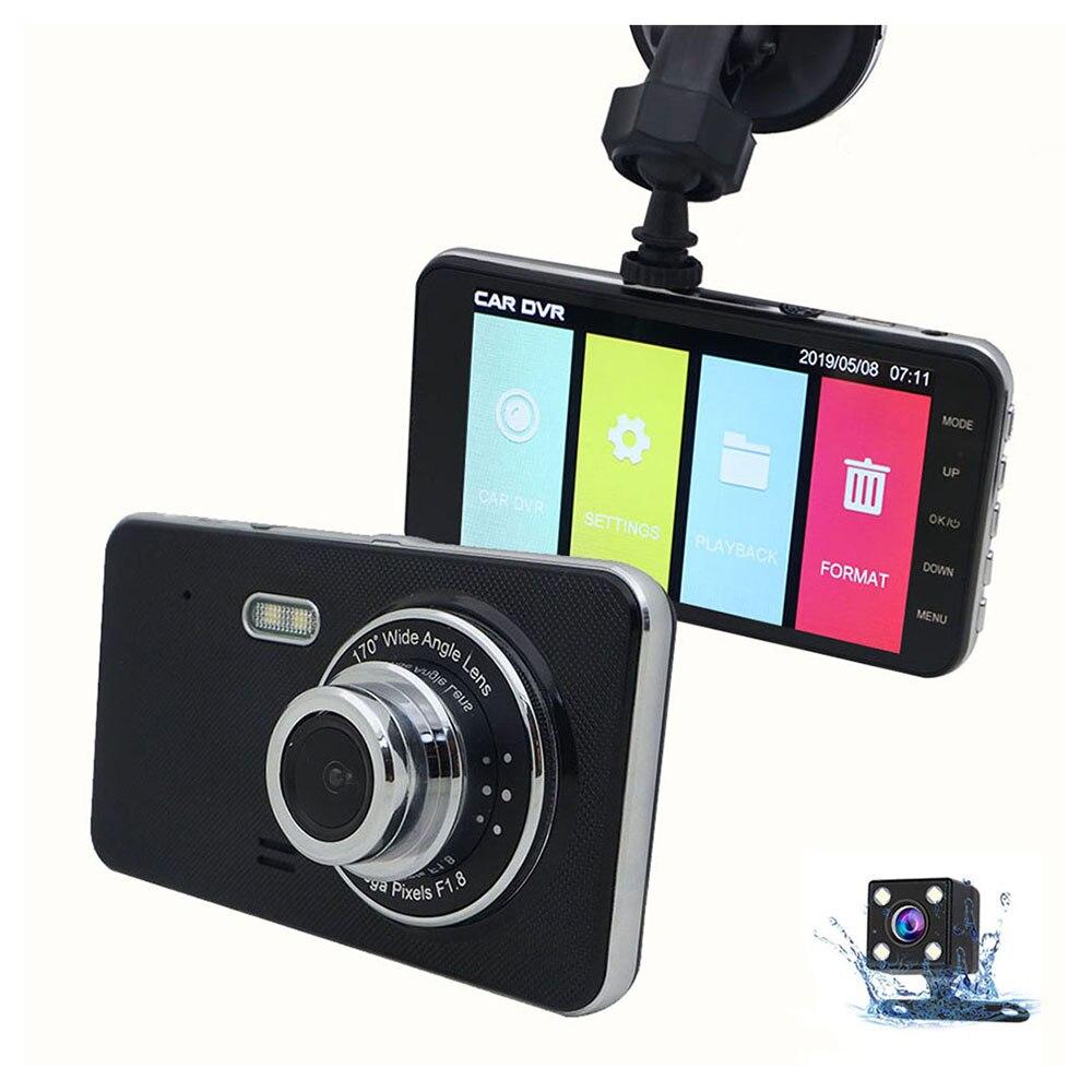 Video Registrator Camera Dash-Cam Full-Hd Dvrs Car-Recorder Dual-Lens Night-Vision 1080P