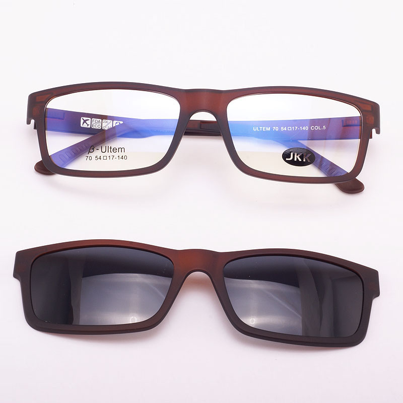 Cermin mata ultra-ringan Kaca Magnet klip Sunglasses Bingkai Myopia - Aksesori pakaian - Foto 5