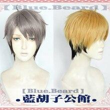 Wigs Haikyuu Miya Osamu Cosplay Black Blonde Short-High-Temperature Synthetic-Hair Fiber