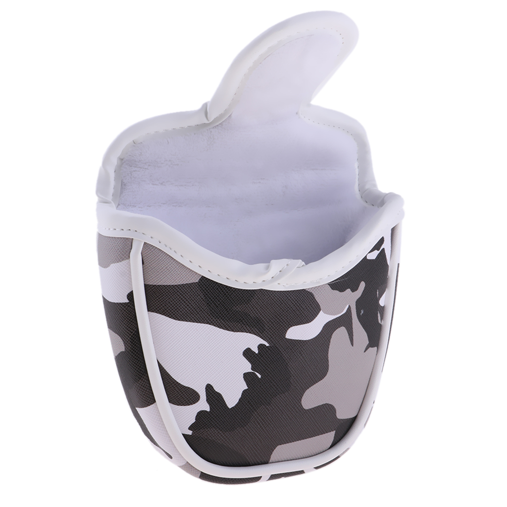 Camouflage Golf Club Cover Mallet Putter Headcover Semicircle Center Putters Sleeve Club Head Protector