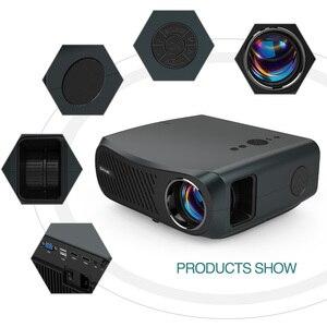 Image 2 - CAIWEI كامل HD العارض A12 1920x1080P أندرويد 6.0 (2G + 16G) واي فاي LED جهاز عرض صغير السينما المنزلية HDMI ثلاثية الأبعاد متعاطي المخدرات الفيديو ل 4K
