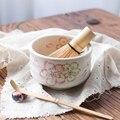 Японская церемония керамика Сакура вишня чаша для маття зеленый чайник чашка глазурь чайный набор кунг-фу винтажная еда чаван