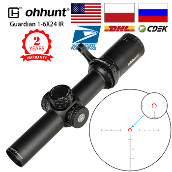 ohhunt Guardian 1-6X24 IR Hunting Riflescopes Compact Glass Etched Reticle llluminate Turrets Lock Reset Tactical Optical Sight 1