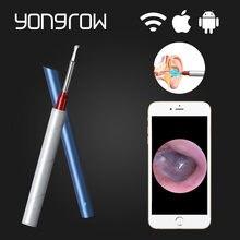 Yongrow – cure-oreille médical, appareil photo HD, Otoscope visuel, nettoyeur de cire d'oreille, Wifi, sans fil, Android IOS, oreillette, outil de soins