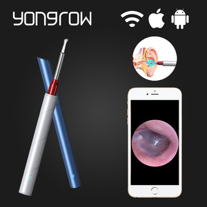 Yongrow Medical HD Camera Visual Otoscope Ear Cleaner Ear Wax Wifi Wireless Android IOS Ear pick Borescope Ear Care Tool Earpick
