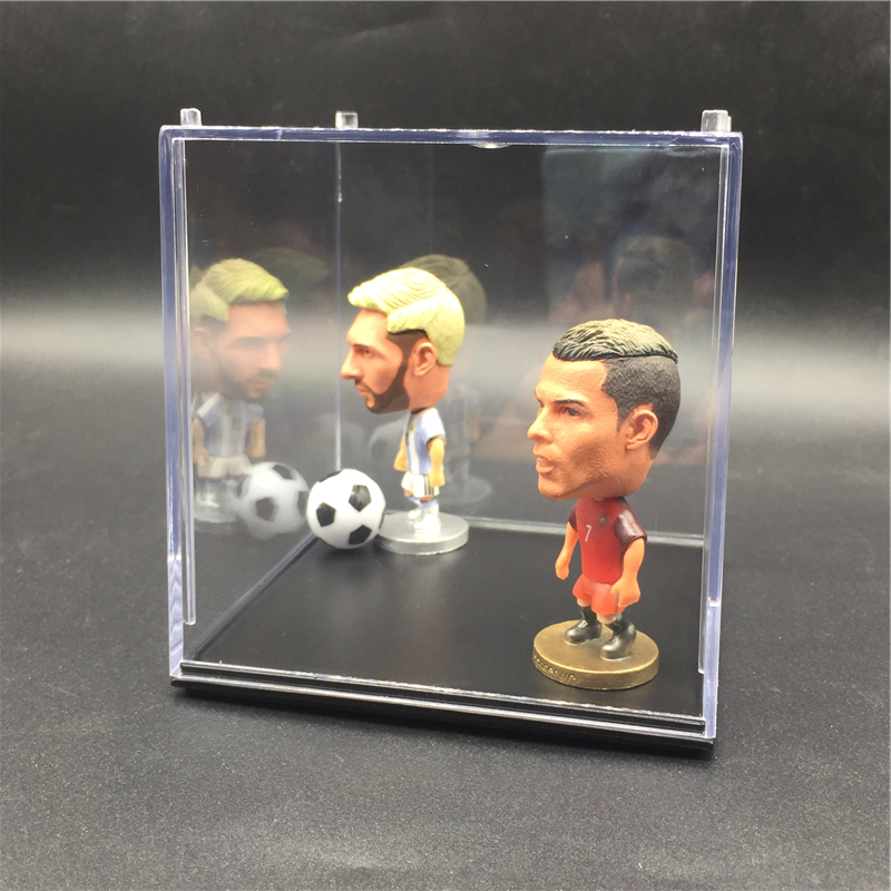 Image 3 - Acrylic Transparent Middle Size 10*10*10 cm 1 Layer Display Box for Soccerwe Soccer Star Ronaldinho Dolls 4 8 pcs Showmessi dolldoll dolldolls dolls dolls -