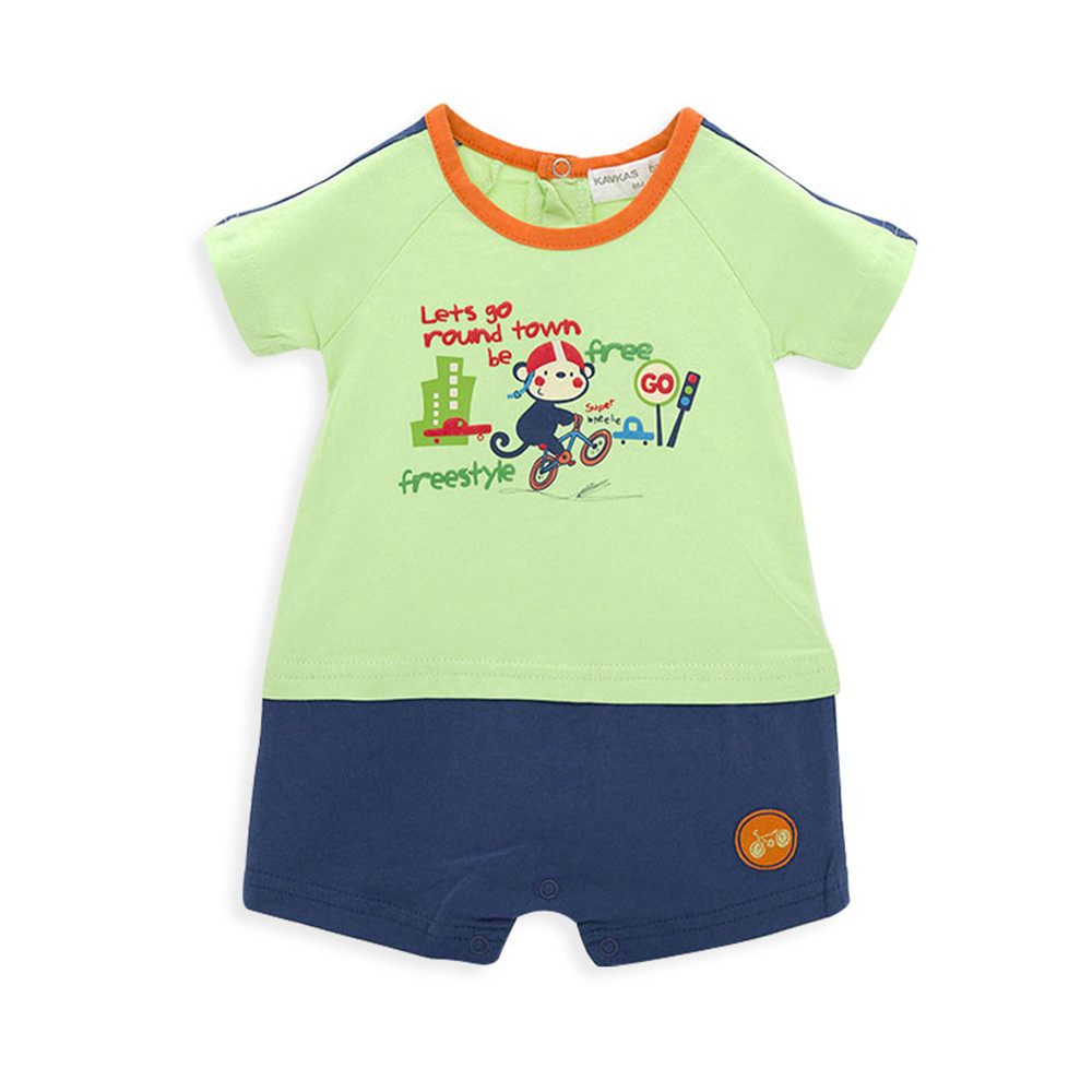 2019 Summer New Style Sleeveless Baby Romper Cotton Newborn Body Suit Baby Pajama Boys Animal Monkey Rompers